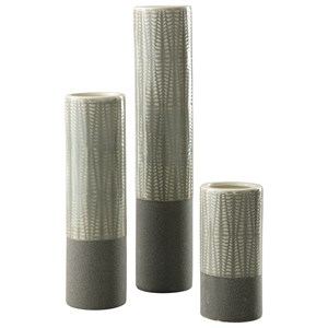 Elwood Gray Vase Set