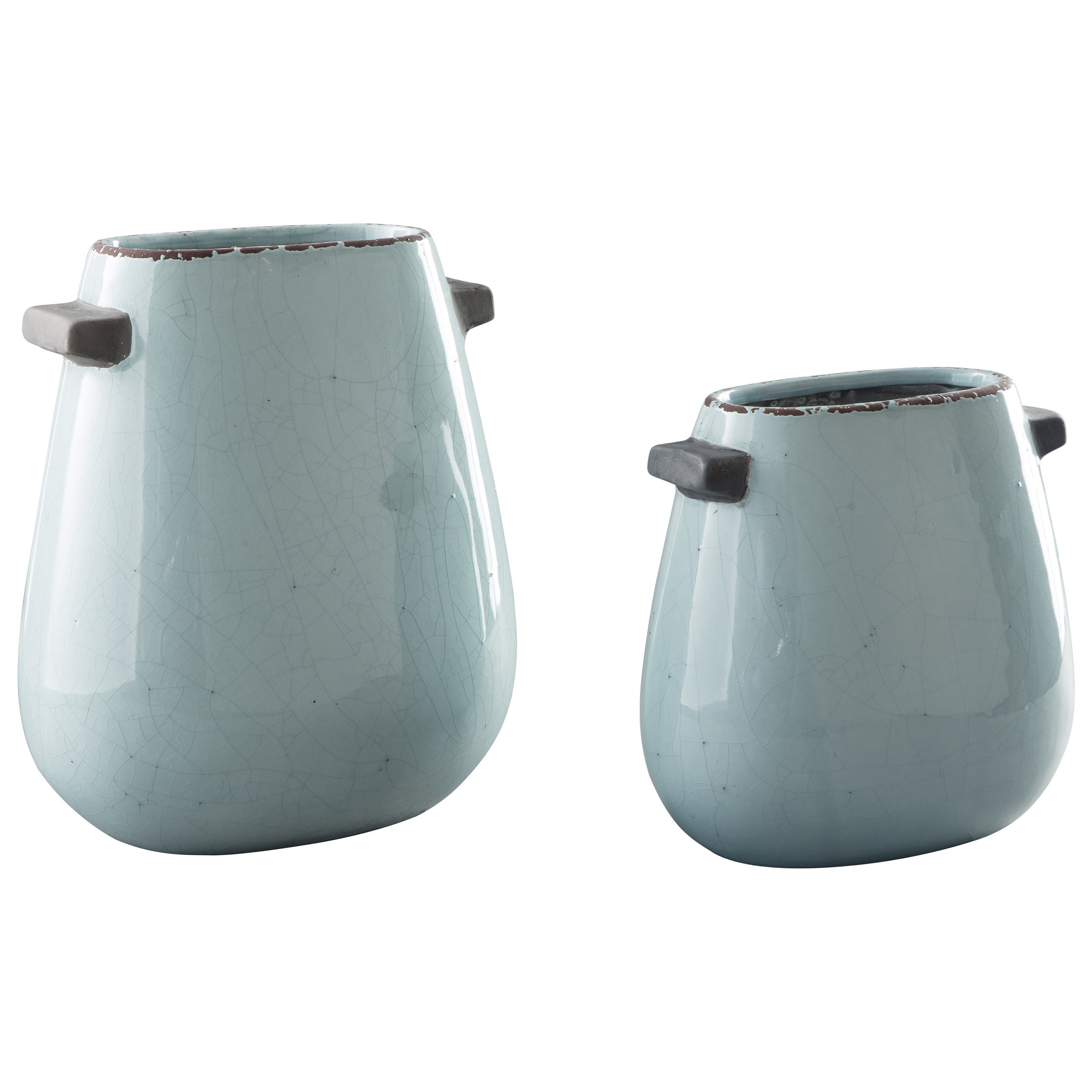 Accents Diah Blue Vase Set by Signature Design by Ashley at Household Furniture