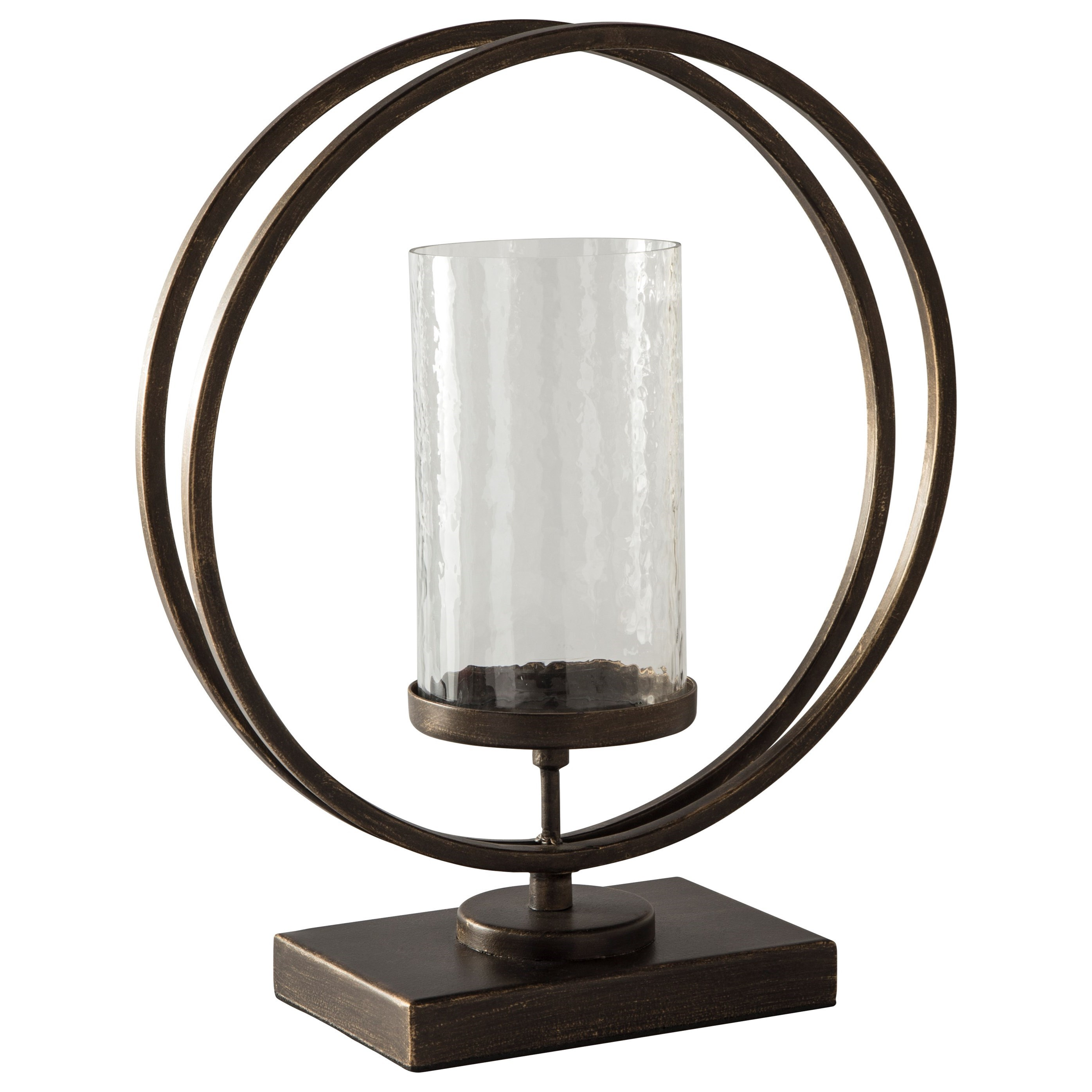 Accents Jalal Antique Gold Finish Candle Holder by Signature Design by Ashley at Suburban Furniture
