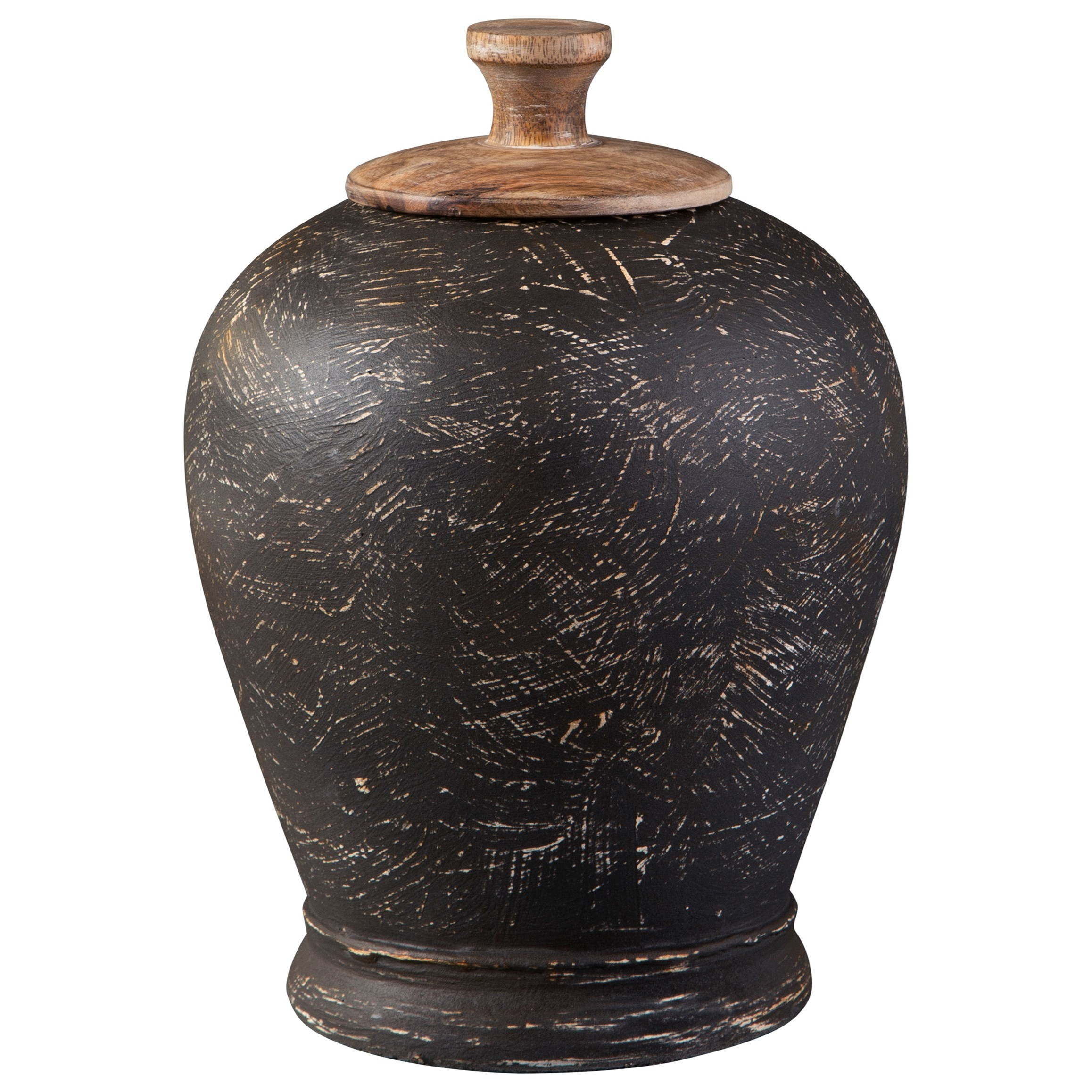 Accents Barric Antique Black Jar by Signature Design by Ashley at Carolina Direct