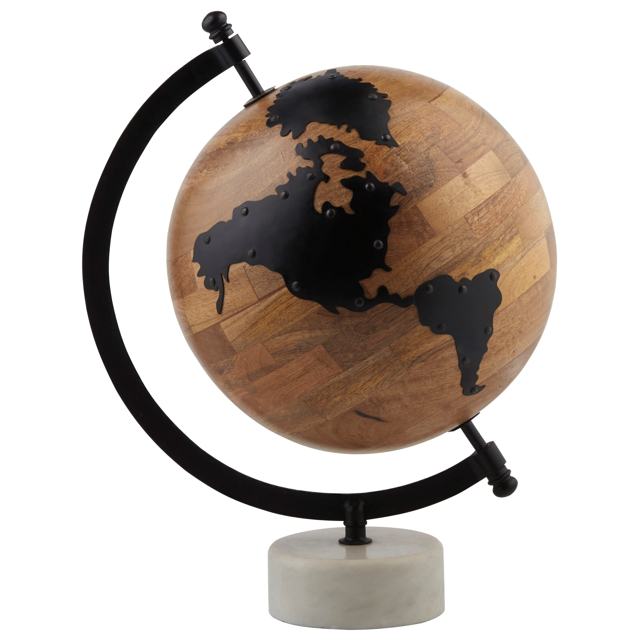 Accents Alameda Natural/Black Globe Sculpture by Signature Design by Ashley at Lynn's Furniture & Mattress