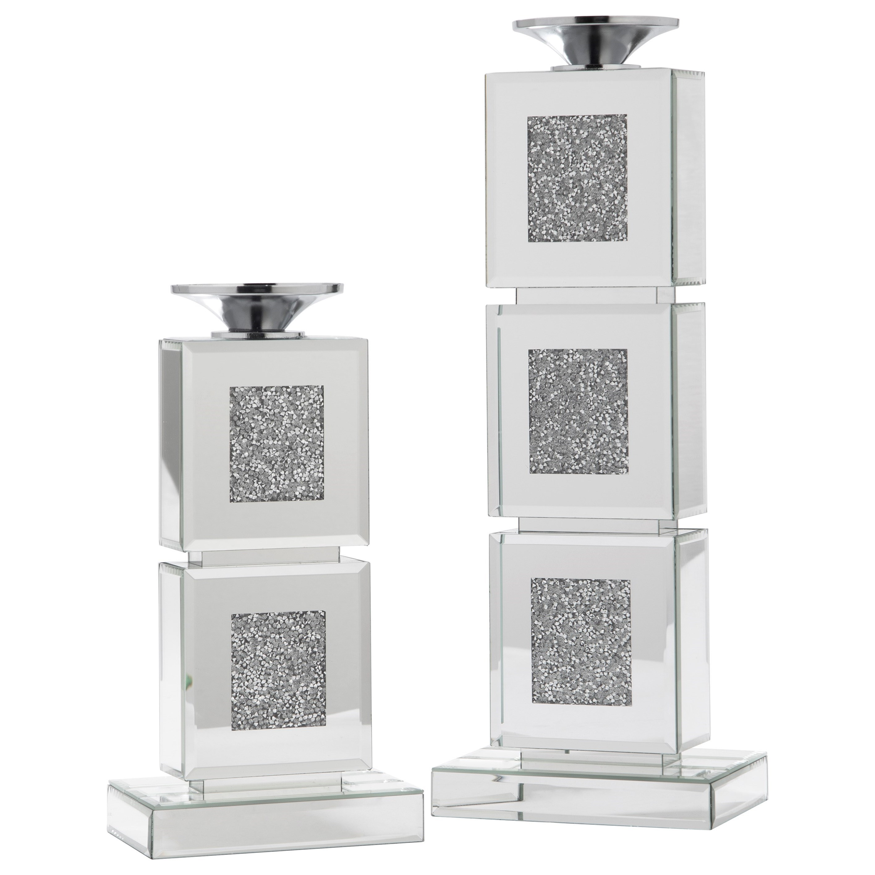 Accents Charline Candle Holder (Set of 2) by Signature Design by Ashley at Household Furniture