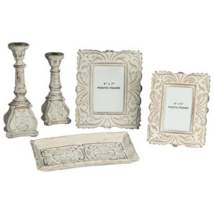 5-Piece Dilys Antique White Accessory Set