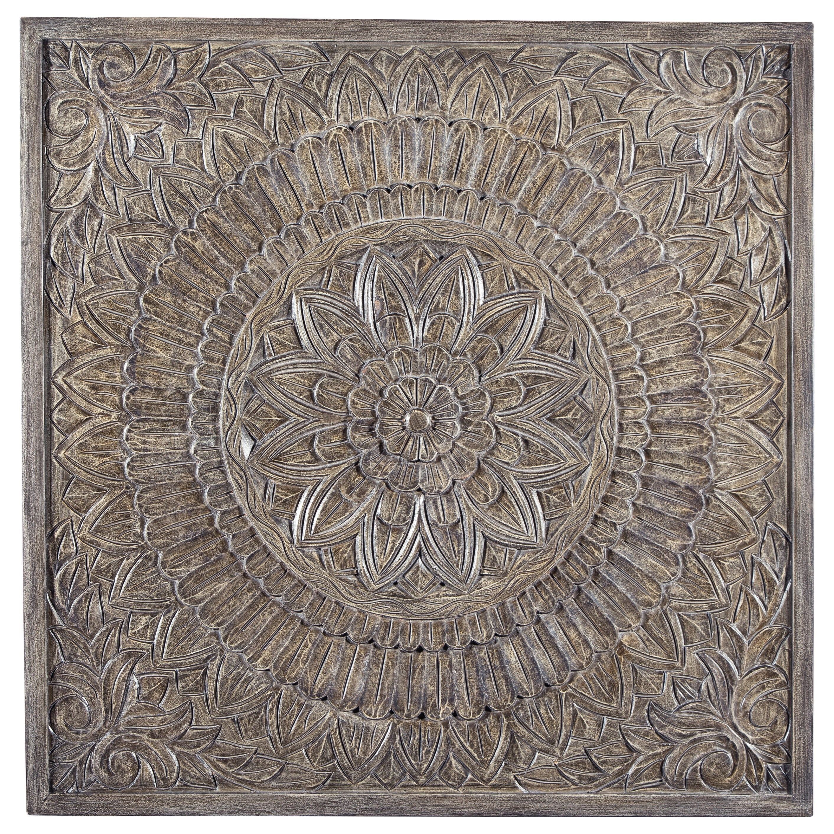 Wall Art Briony Antique Gray Wall Decor by Signature at Walker's Furniture