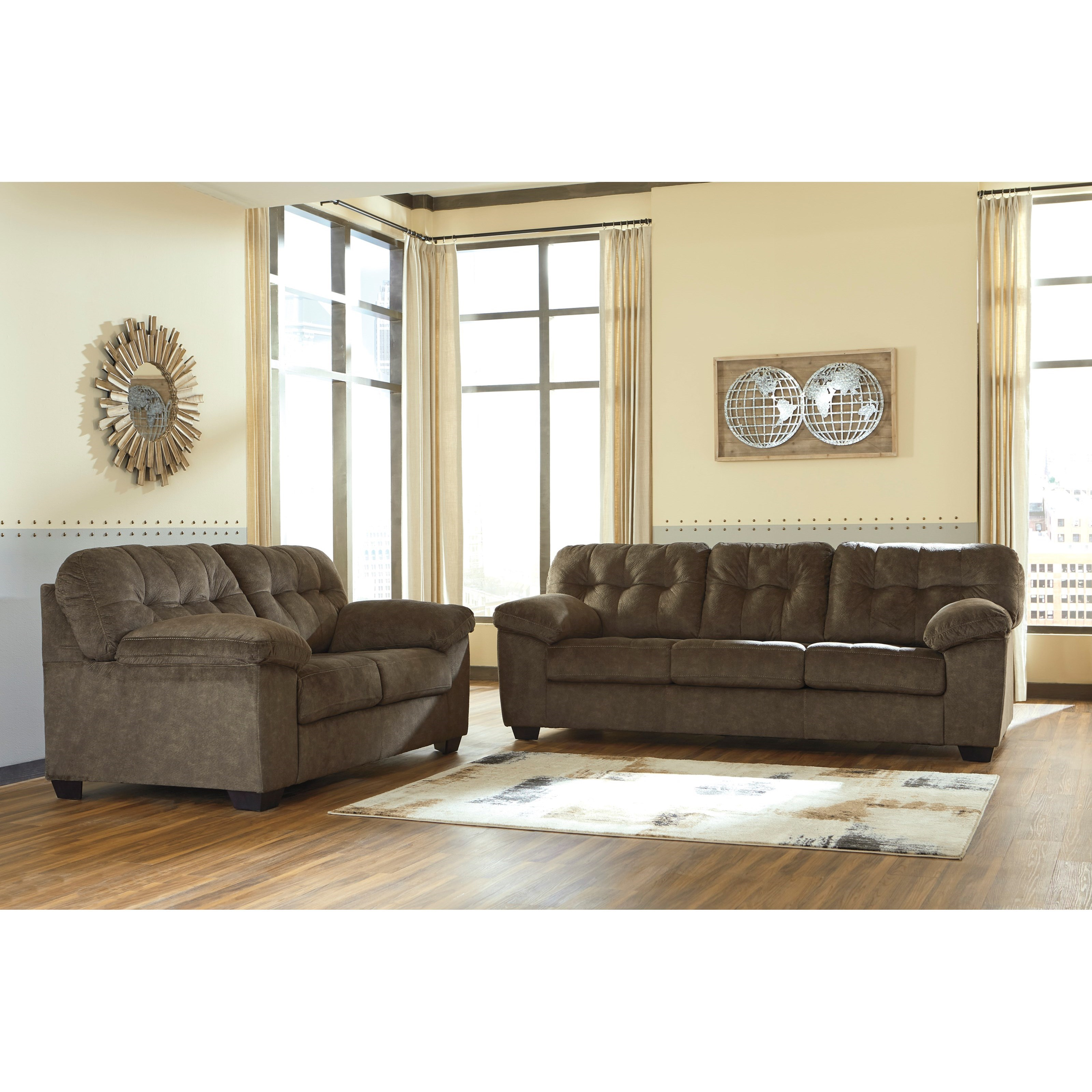 Accrington Stationary Living Room Group by Benchcraft at Virginia Furniture Market