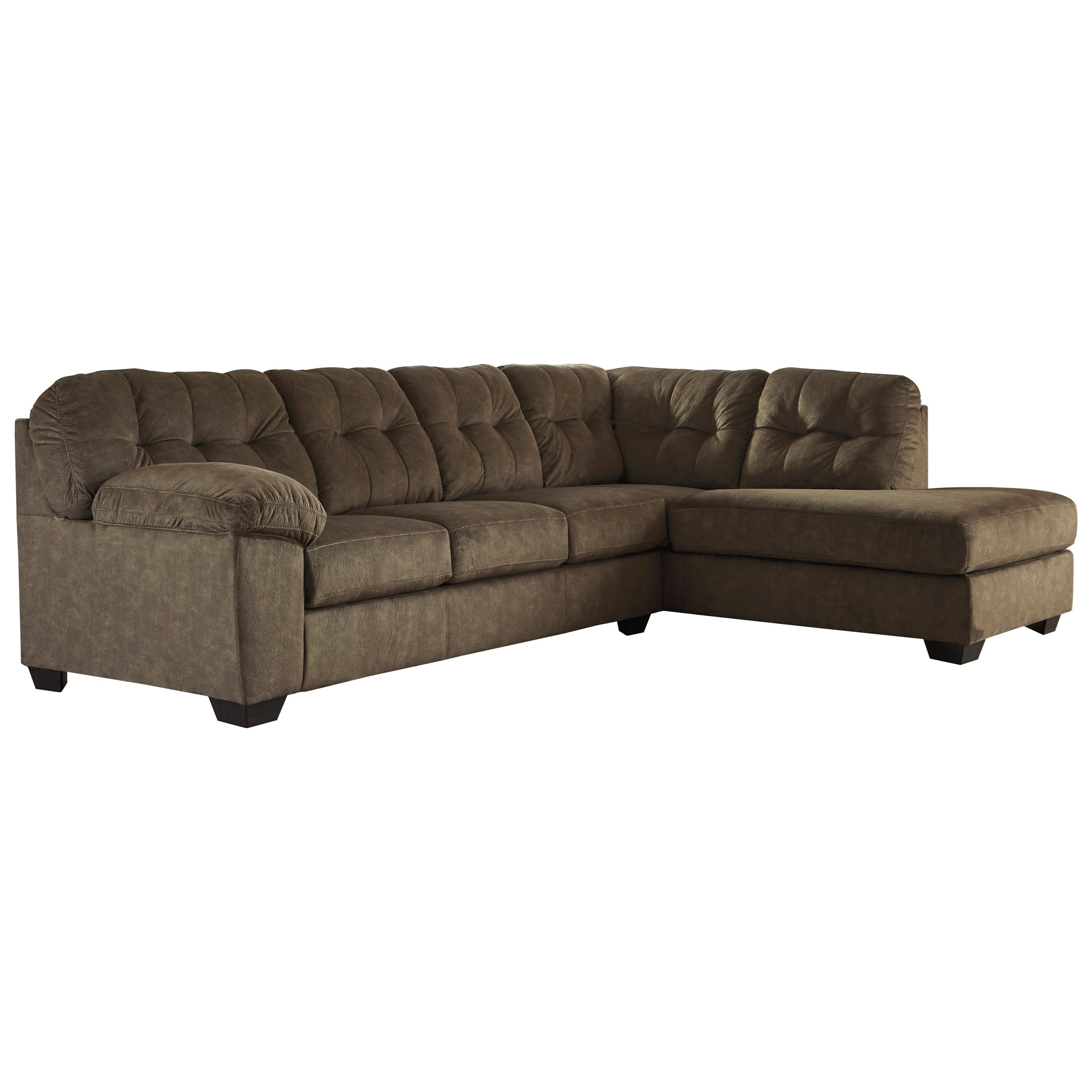 Accrington Sectional with Right Chaise & Queen Sleeper by Ashley (Signature Design) at Johnny Janosik