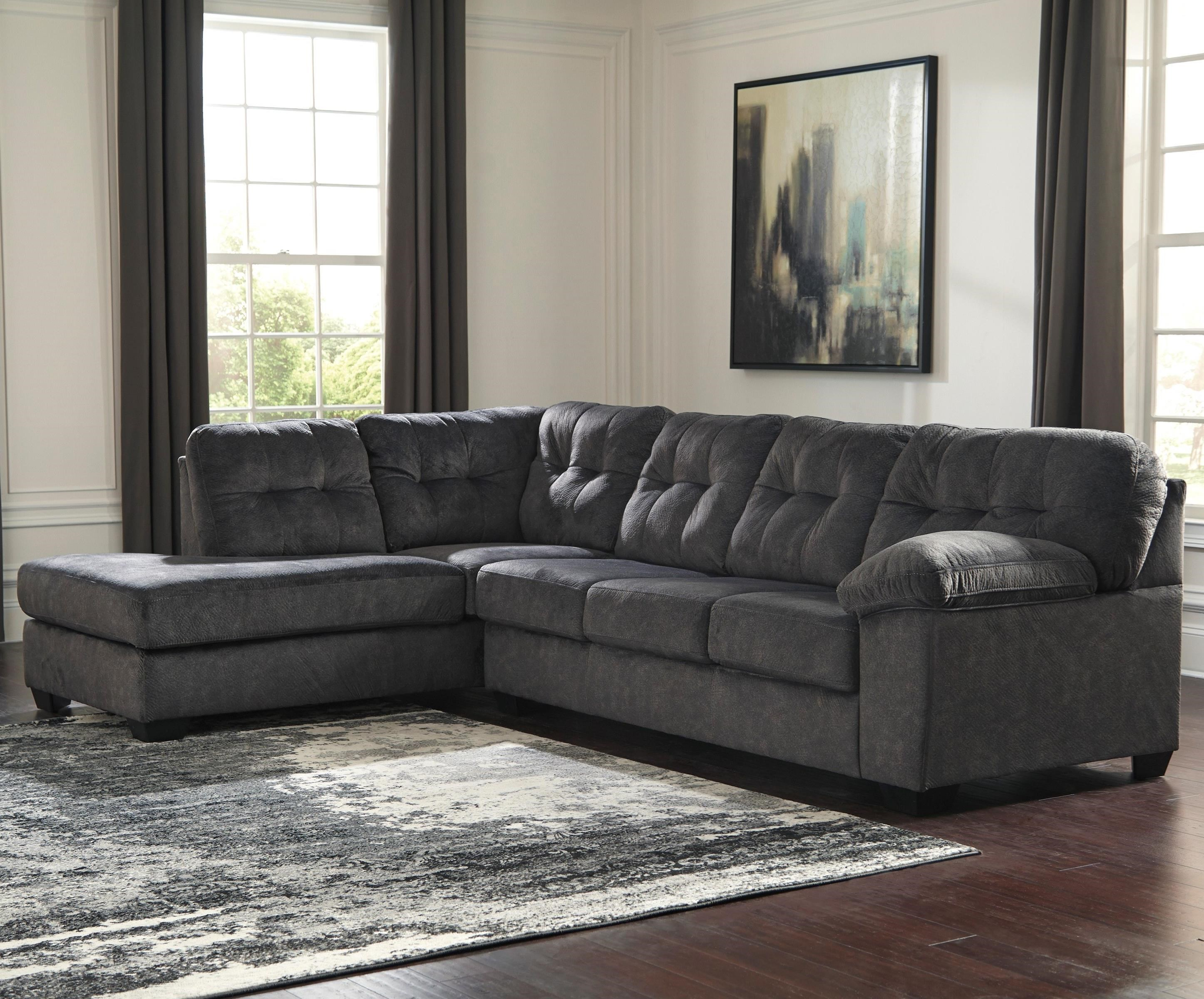 Accrington Sectional with Left Chaise by Ashley (Signature Design) at Johnny Janosik