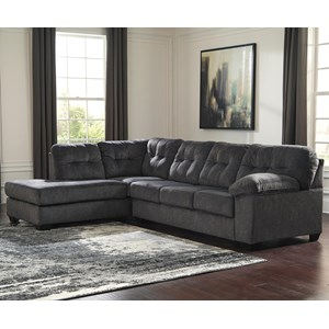 Contemporary Sectional with Left Chaise and Pillow Arm