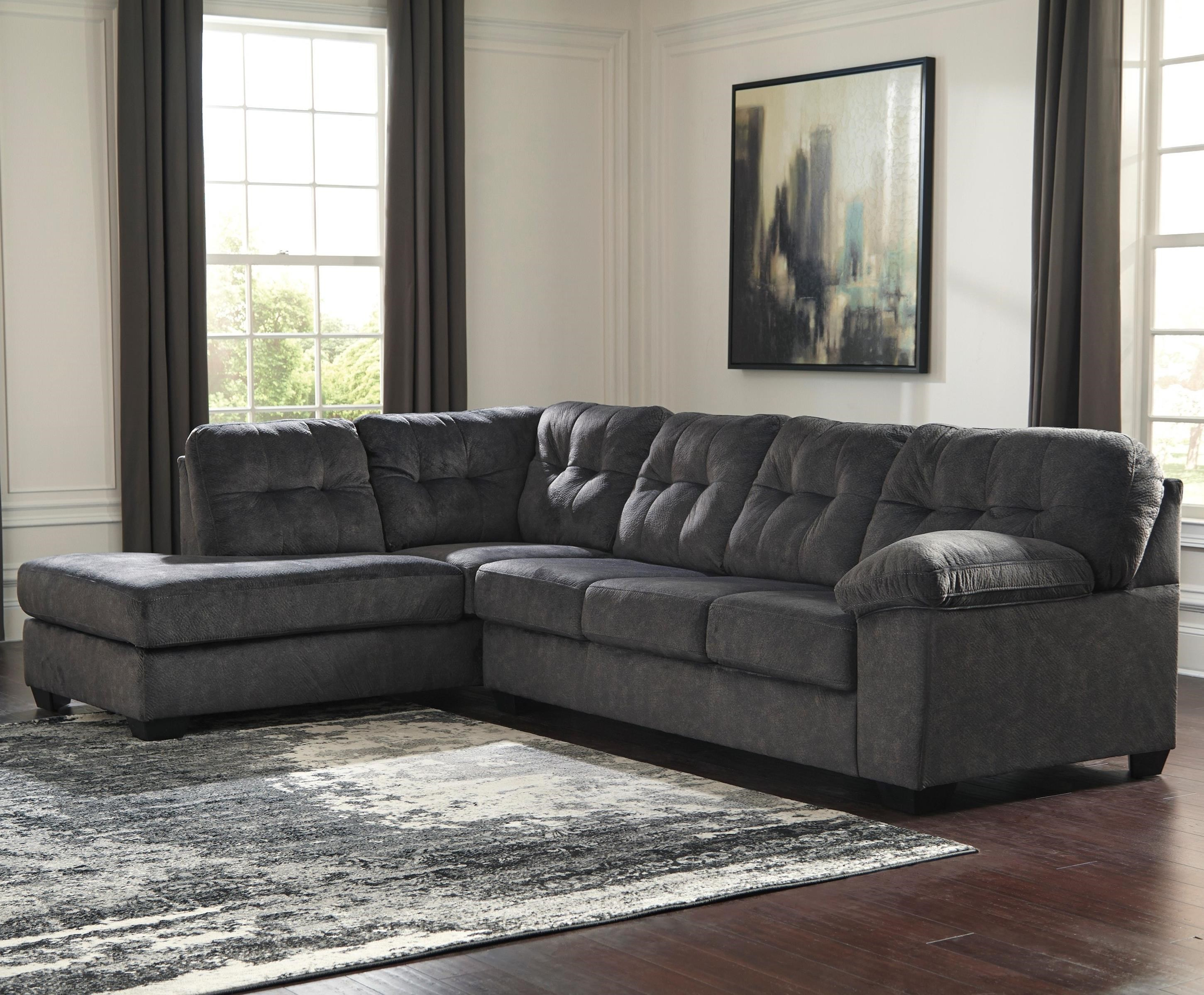 Accrington Sectional with Left Chaise & Queen Sleeper by Signature Design by Ashley at Catalog Outlet