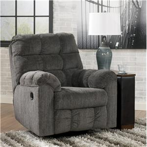 Swivel Rocker Recliner with Quilted Cushion Style