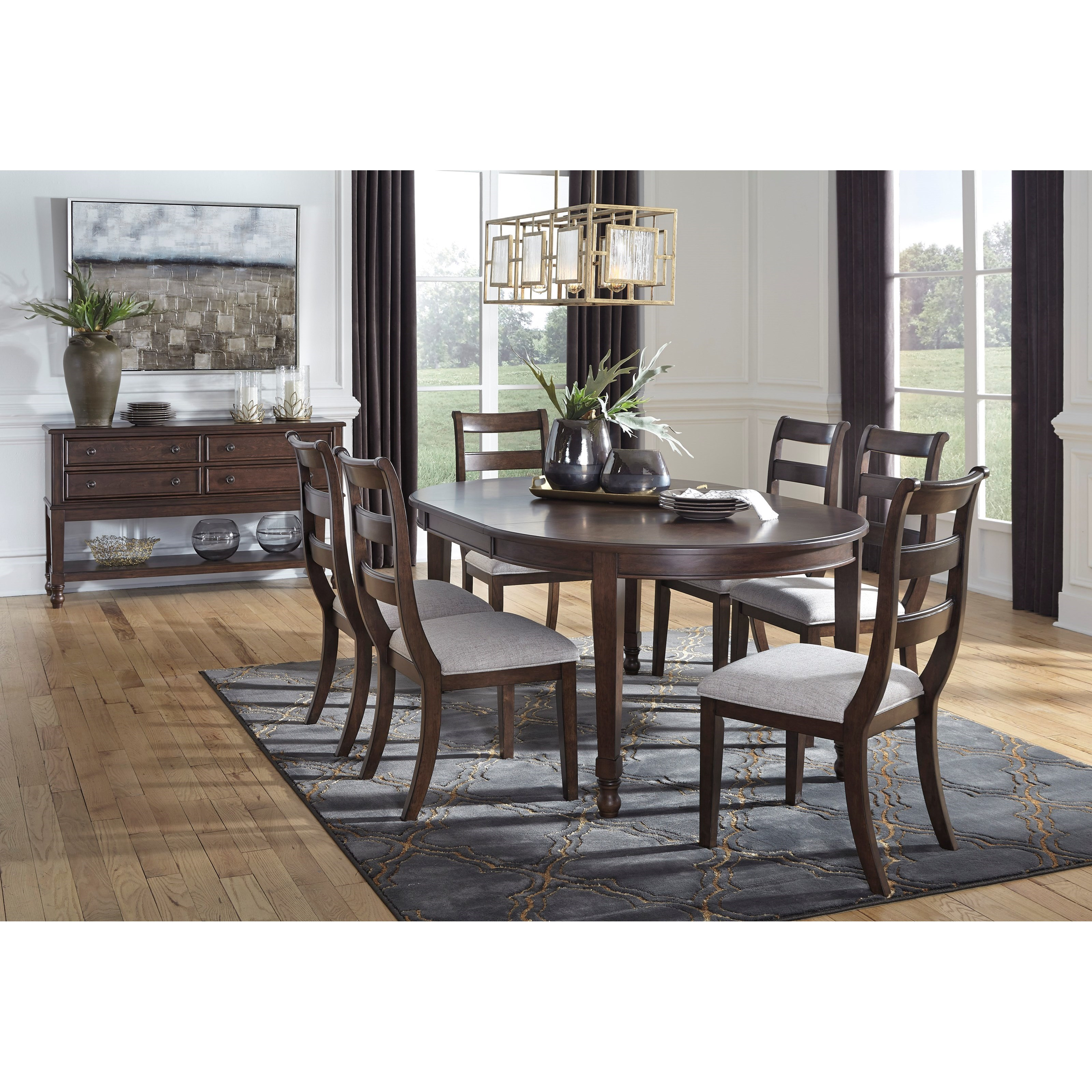 Adinton Formal Dining Room Group by Benchcraft at Virginia Furniture Market