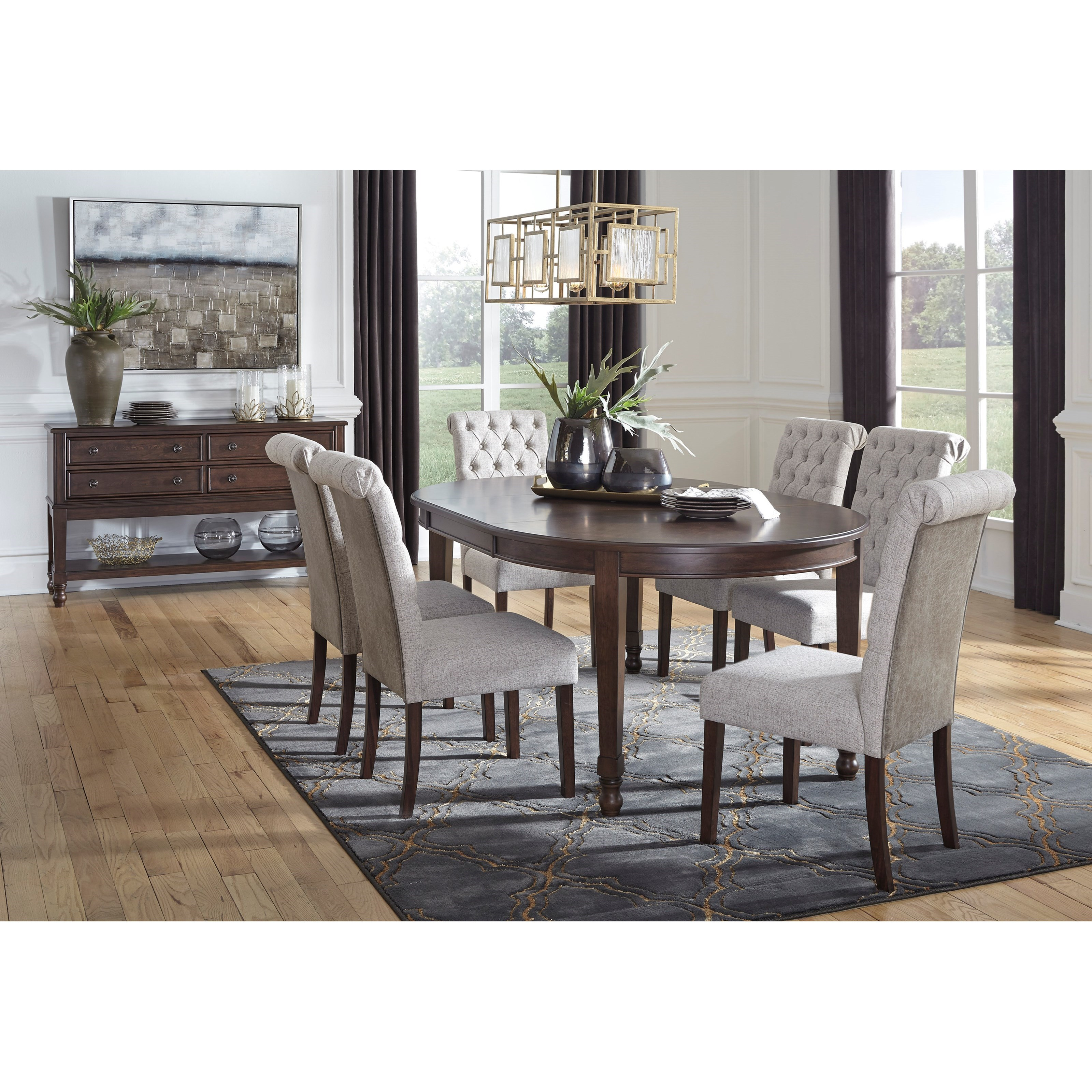 Adinton Formal Dining Room Group by Signature Design by Ashley at Lapeer Furniture & Mattress Center