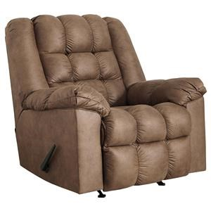 Casual Rocker Recliner with Heat and Massage