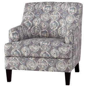 Relaxed Vintage Accent Chair with Button Tufting