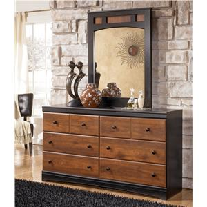 Two-Tone Finish Dresser & Mirror