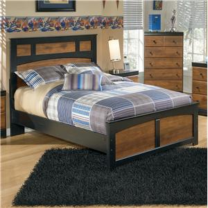 Two-Tone Finish Full Panel Bed