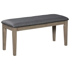 Upholstered Bench with Nailhead Trim
