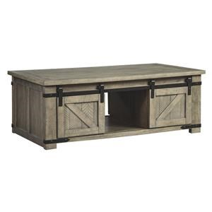 Rectangle Storage Cocktail Table and Rectangular End Table Set