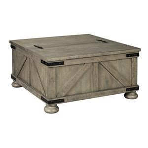 Cocktail Table with Storage and Rectangular End Table Set