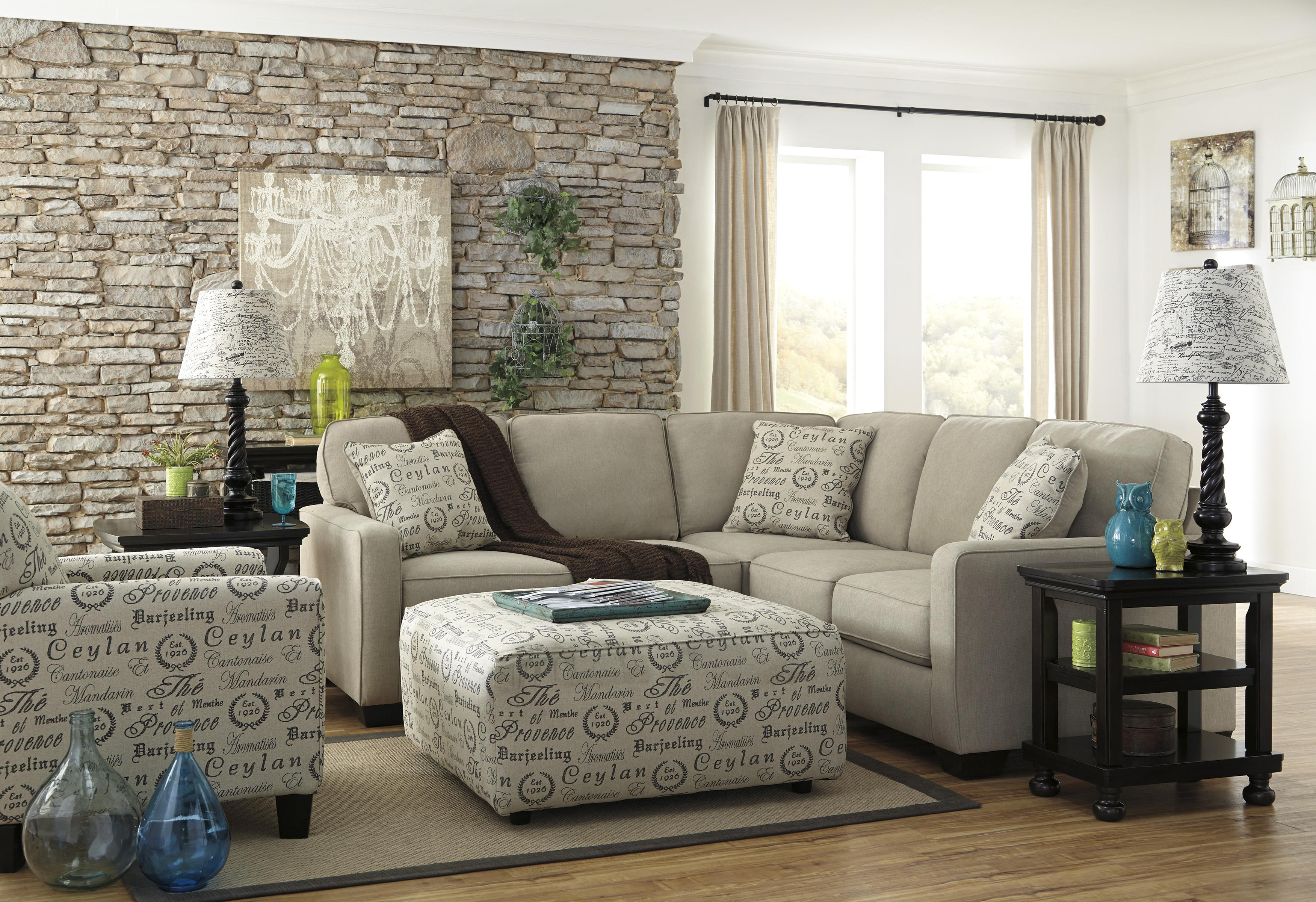Alenya - Quartz Stationary Living Room Group by Signature Design by Ashley at Catalog Outlet