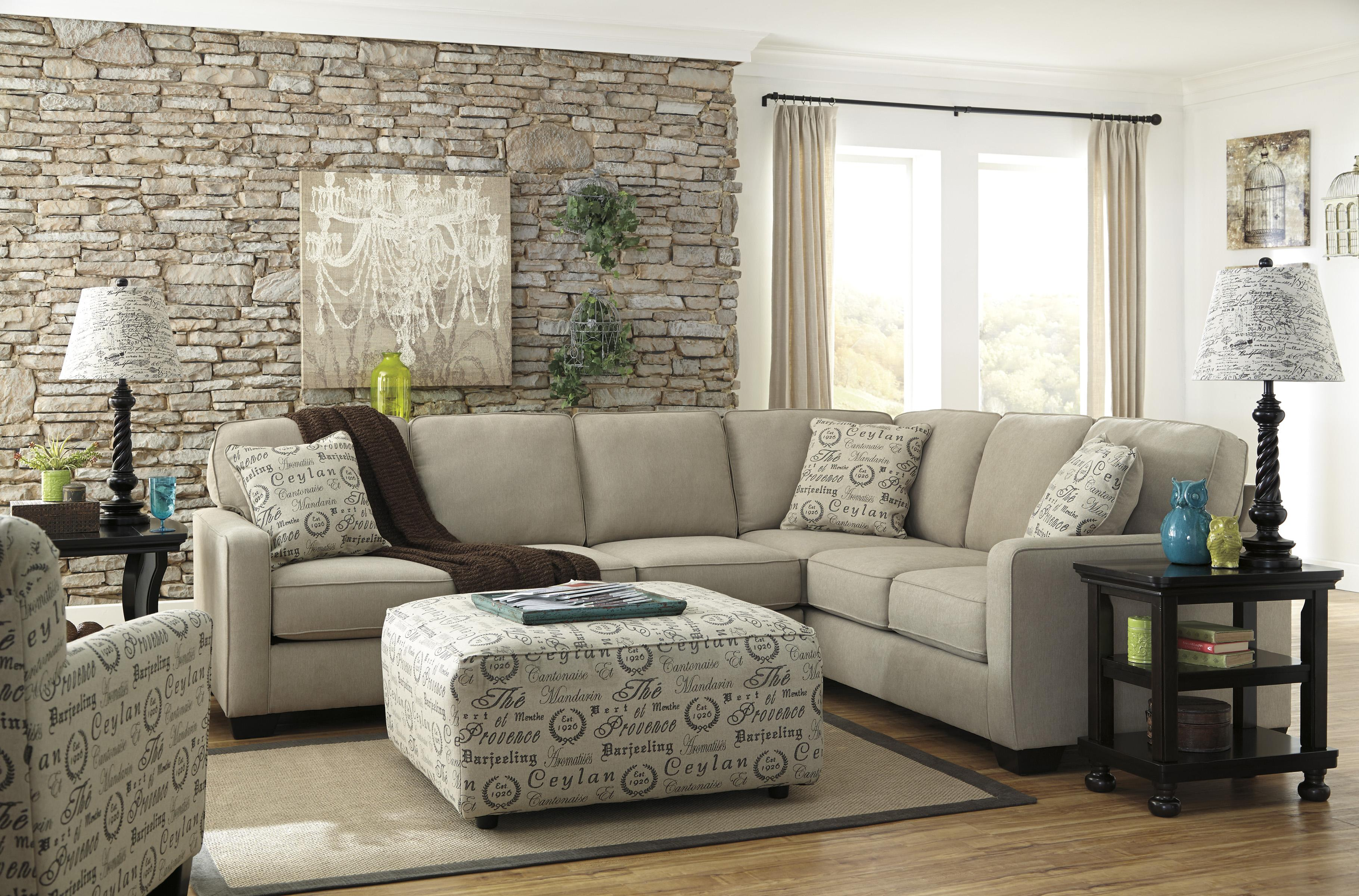 Alenya - Quartz Stationary Living Room Group by Signature Design by Ashley at A1 Furniture & Mattress