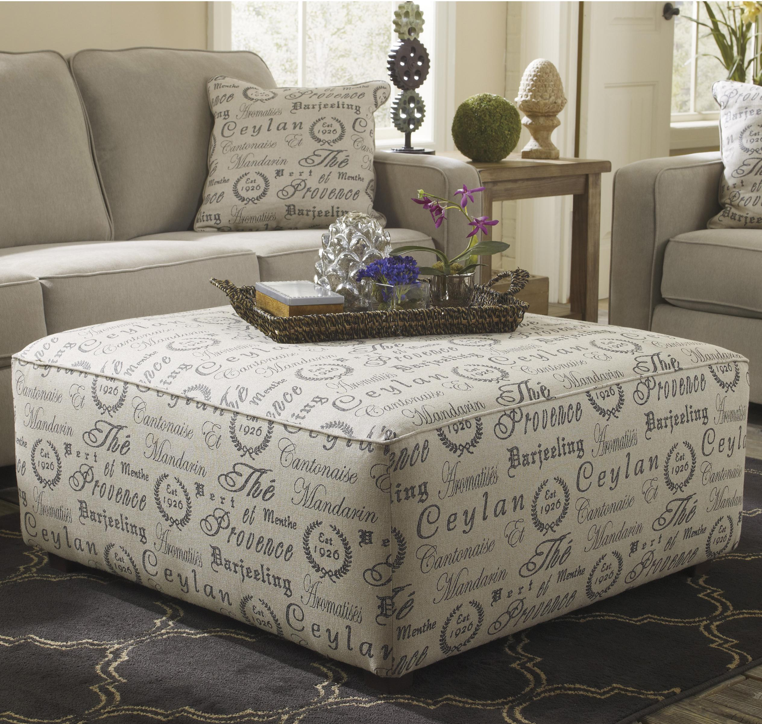 Alenya - Quartz Oversized Accent Ottoman by Signature at Walker's Furniture