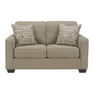 Contemporary Loveseat w/ Track Arms