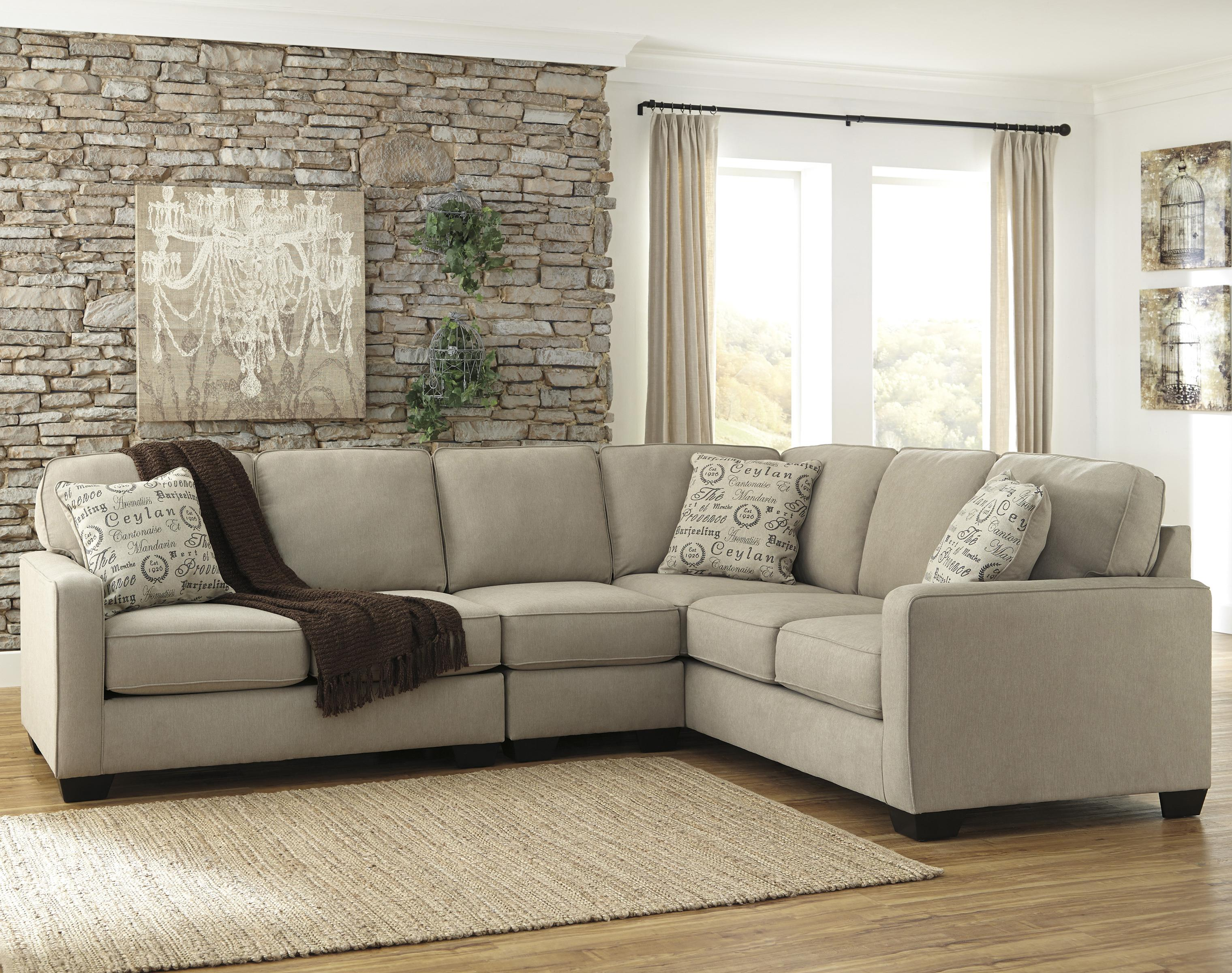 Alenya - Quartz 3-Piece Sectional with Left Loveseat by Signature Design by Ashley at Beds N Stuff