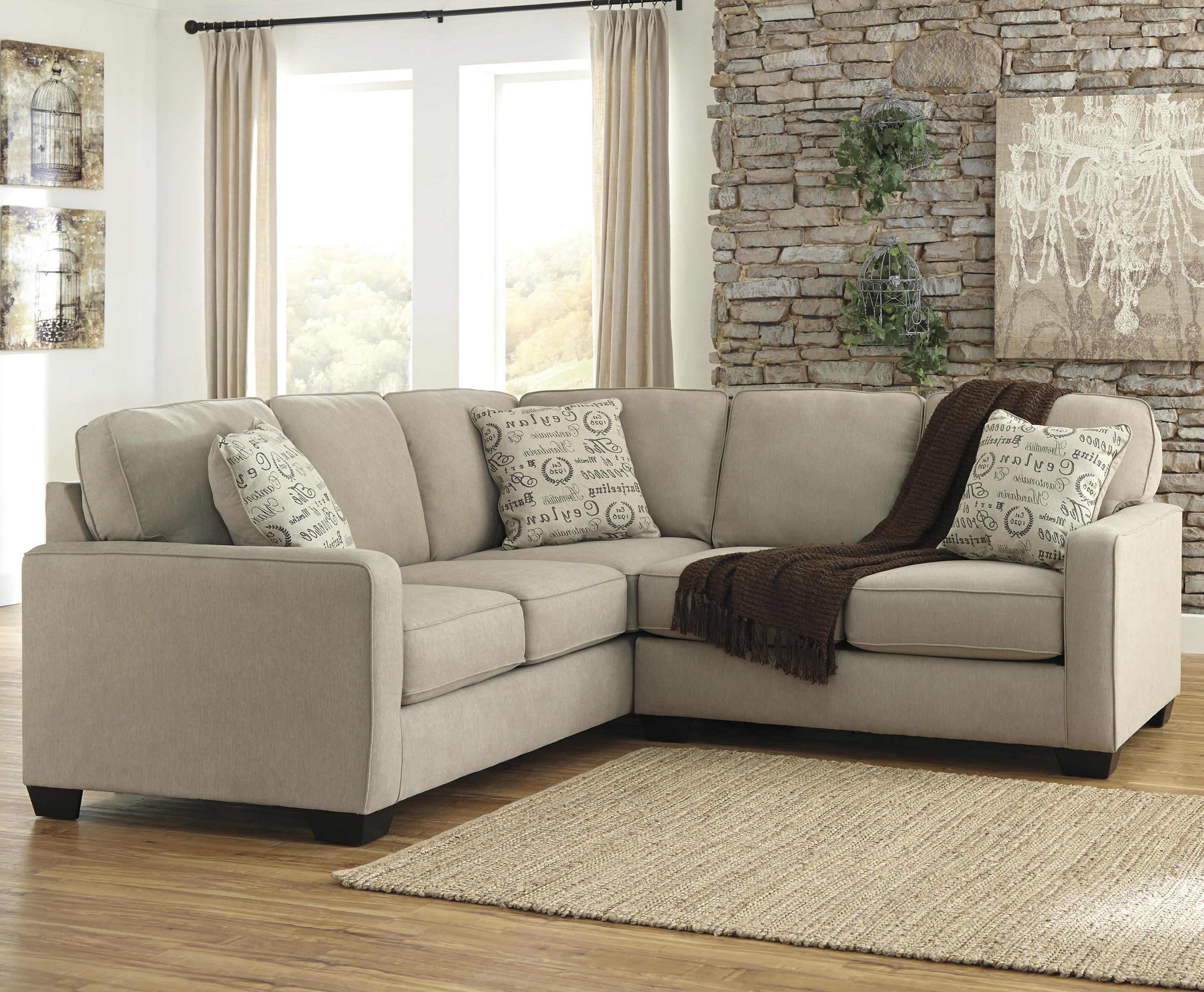 Alenya - Quartz 2-Piece Sectional with Right Loveseat by Signature Design at Fisher Home Furnishings