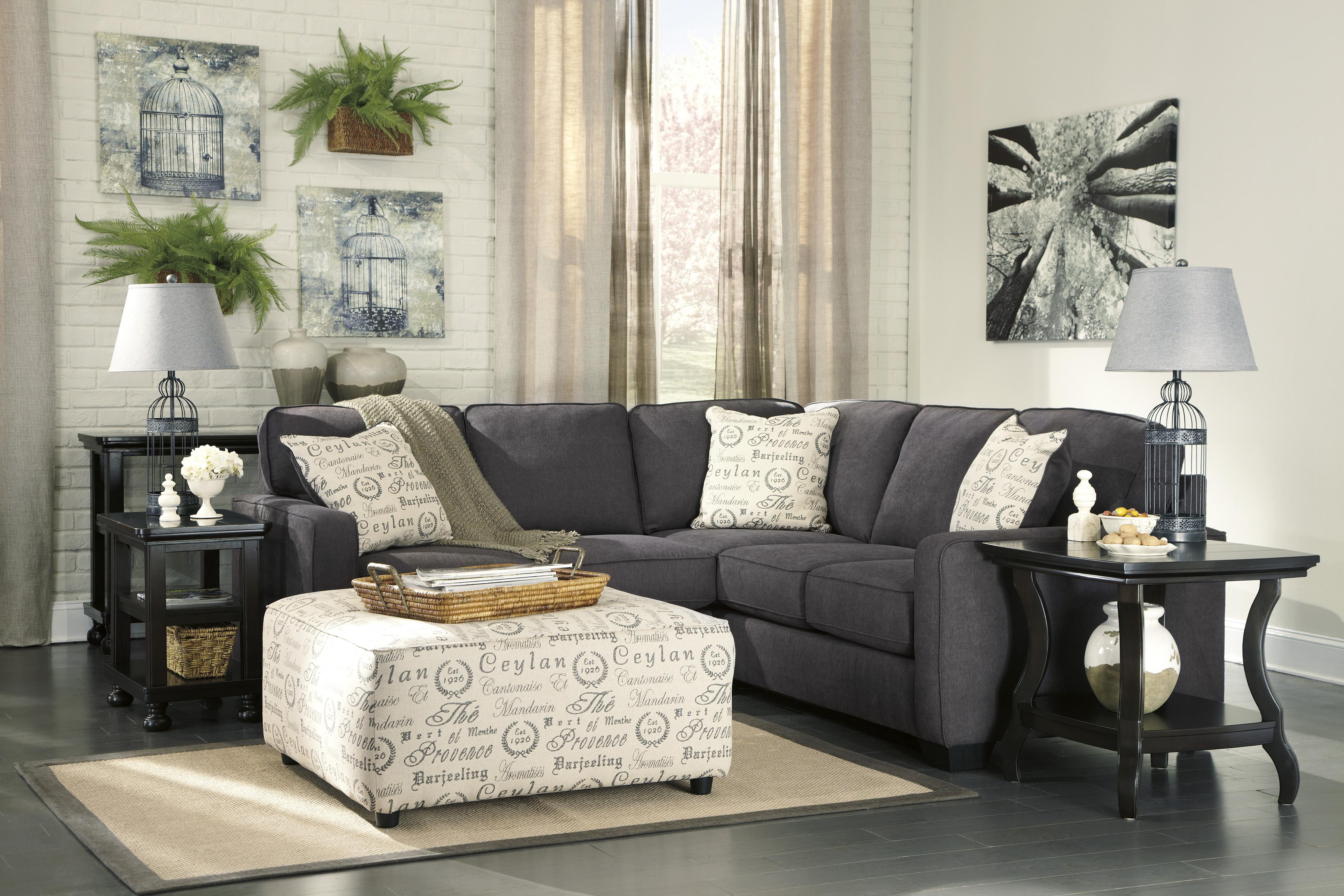 Alenya - Charcoal Stationary Living Room Group by Signature Design by Ashley at Sparks HomeStore