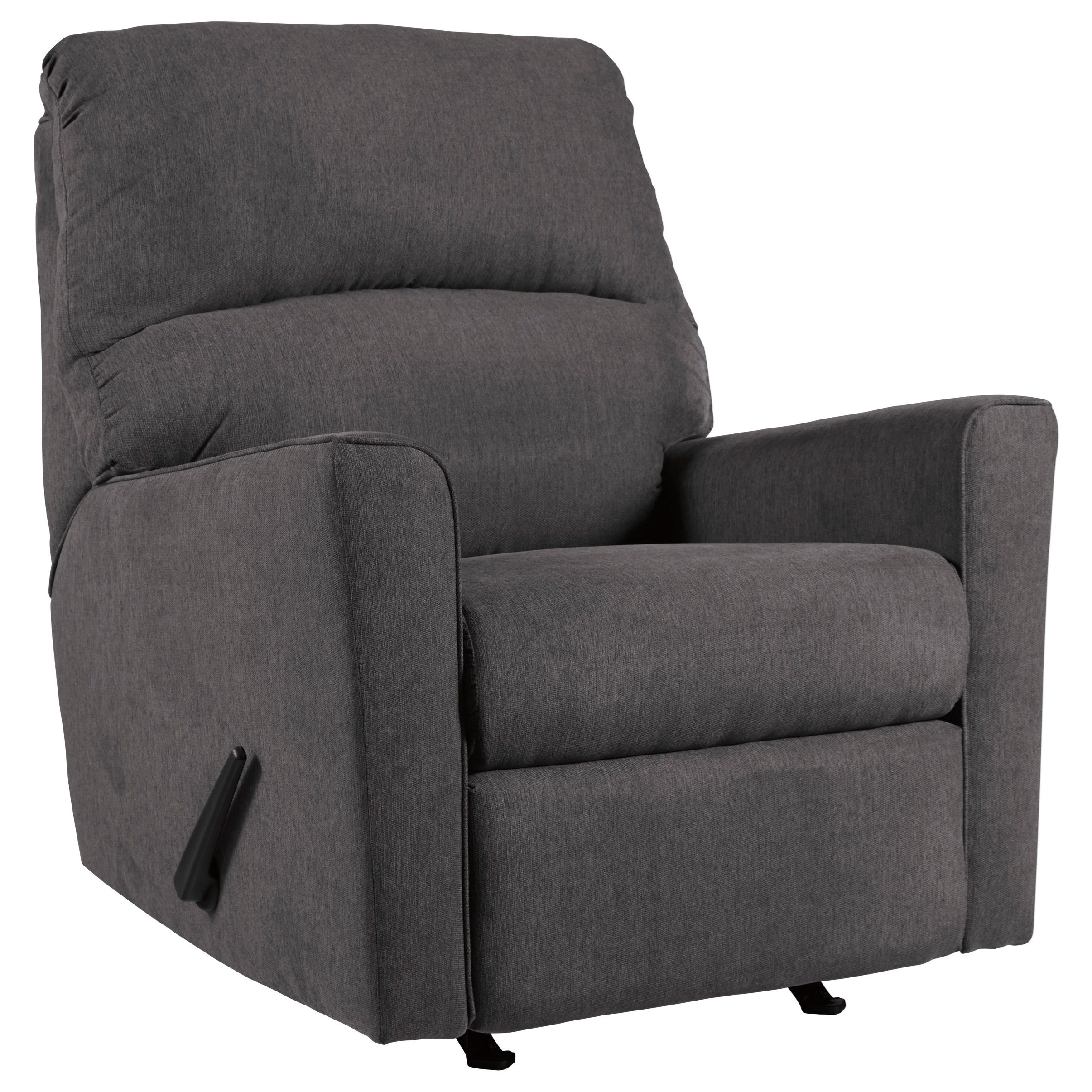 Alenya - Charcoal Rocker Recliner by Signature Design by Ashley at Catalog Outlet