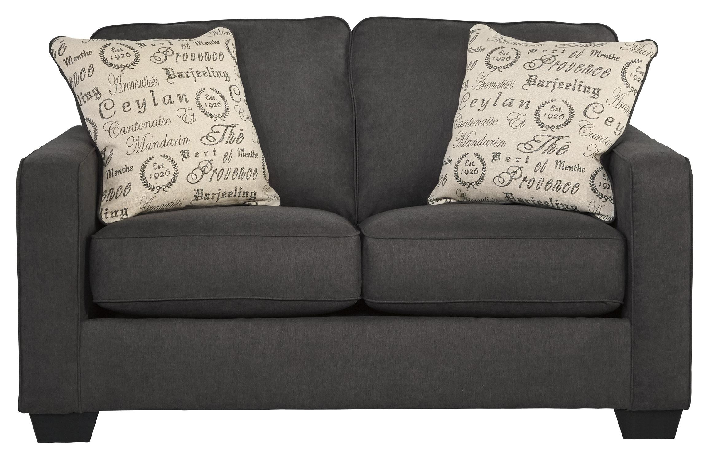 Alenya - Charcoal Loveseat by Ashley (Signature Design) at Johnny Janosik