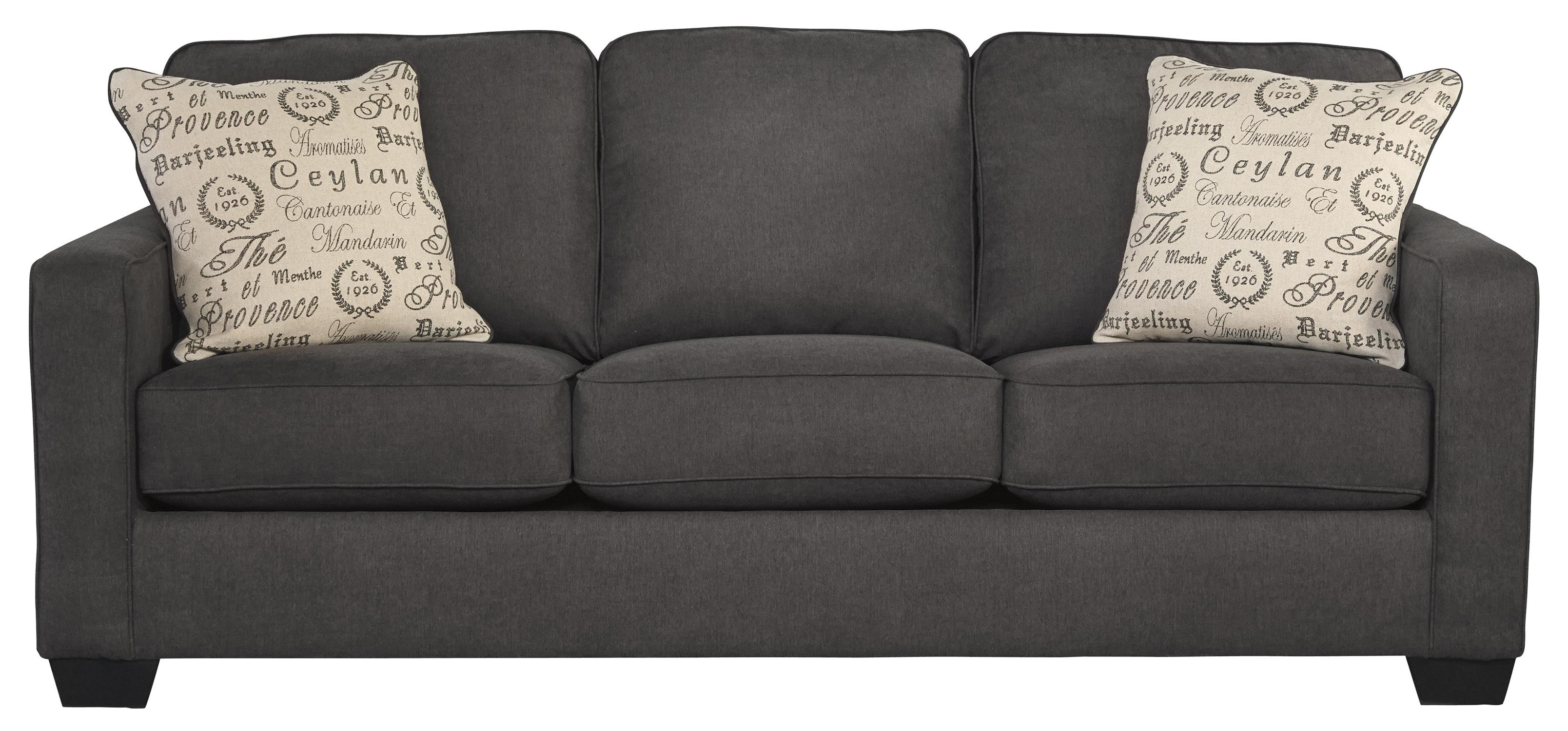 Alenya - Charcoal Queen Sofa Sleeper by Signature Design by Ashley at Suburban Furniture