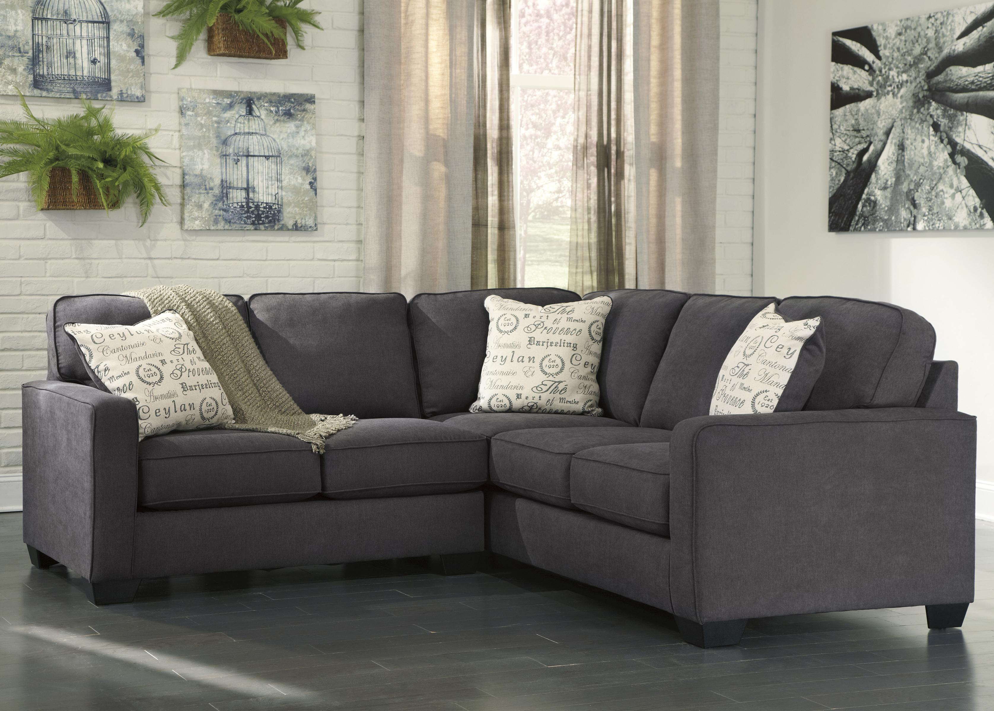 Alenya - Charcoal 2-Piece Sectional with Left Loveseat by Signature Design by Ashley at Standard Furniture
