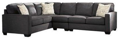 Alenya - Charcoal 3-Piece Sectional with Right Loveseat by Signature Design by Ashley at Value City Furniture