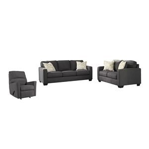 Charcoal Sofa, Loveseat and Recliner Set