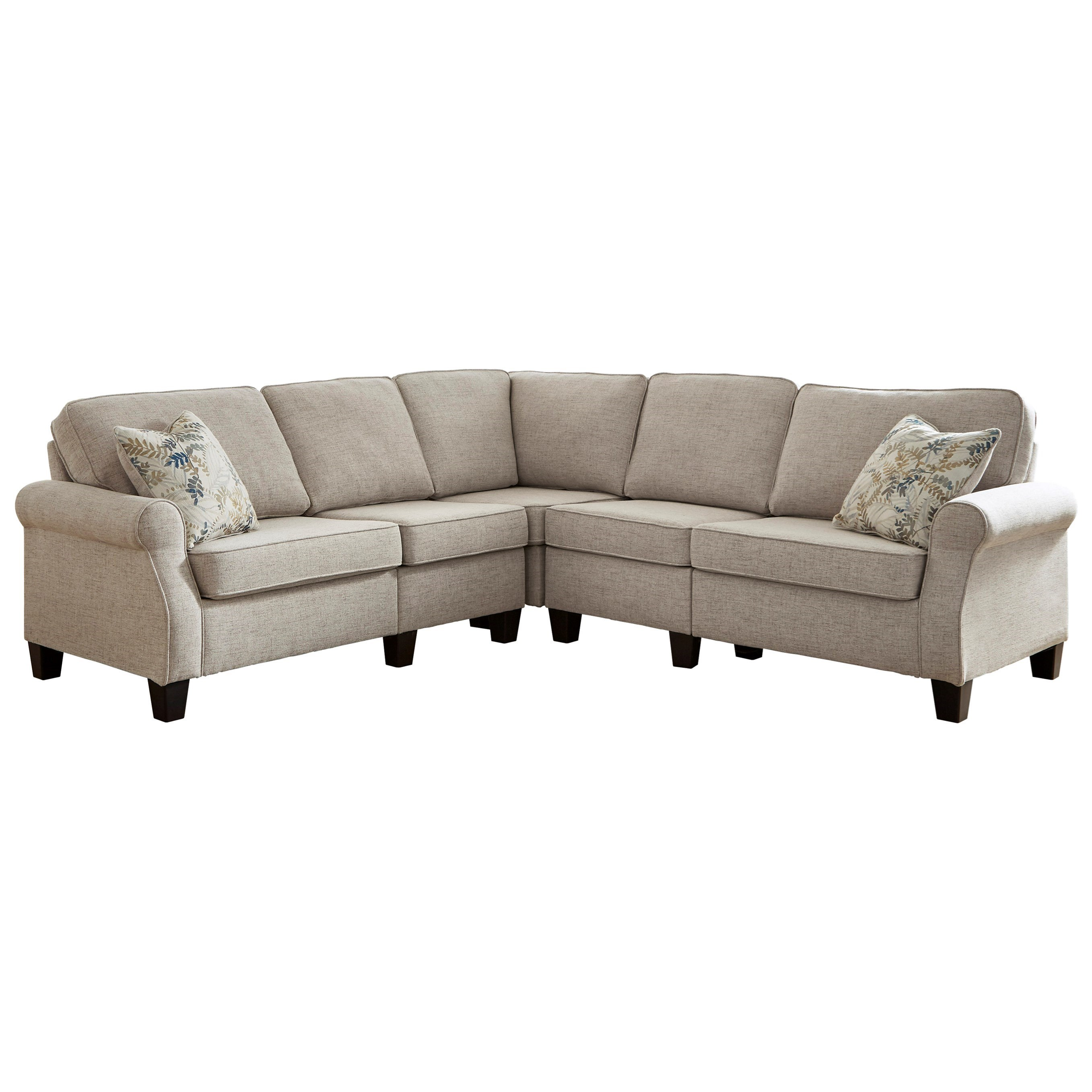 Alessio L-Shape Sectional by Signature Design at Fisher Home Furnishings