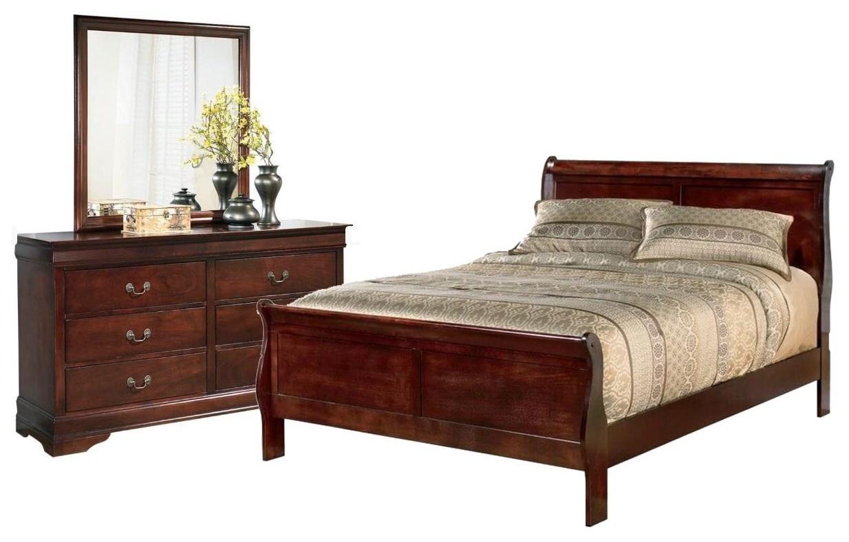 Queen Bed, Dresser and Mirror