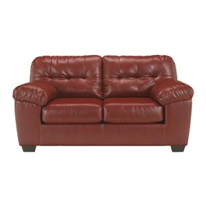 Contemporary Loveseat w/ Pillow Arms