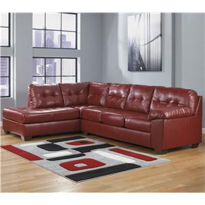 Signature Design by Ashley Alliston DuraBlend® - Salsa Sectional w/ Left Chaise