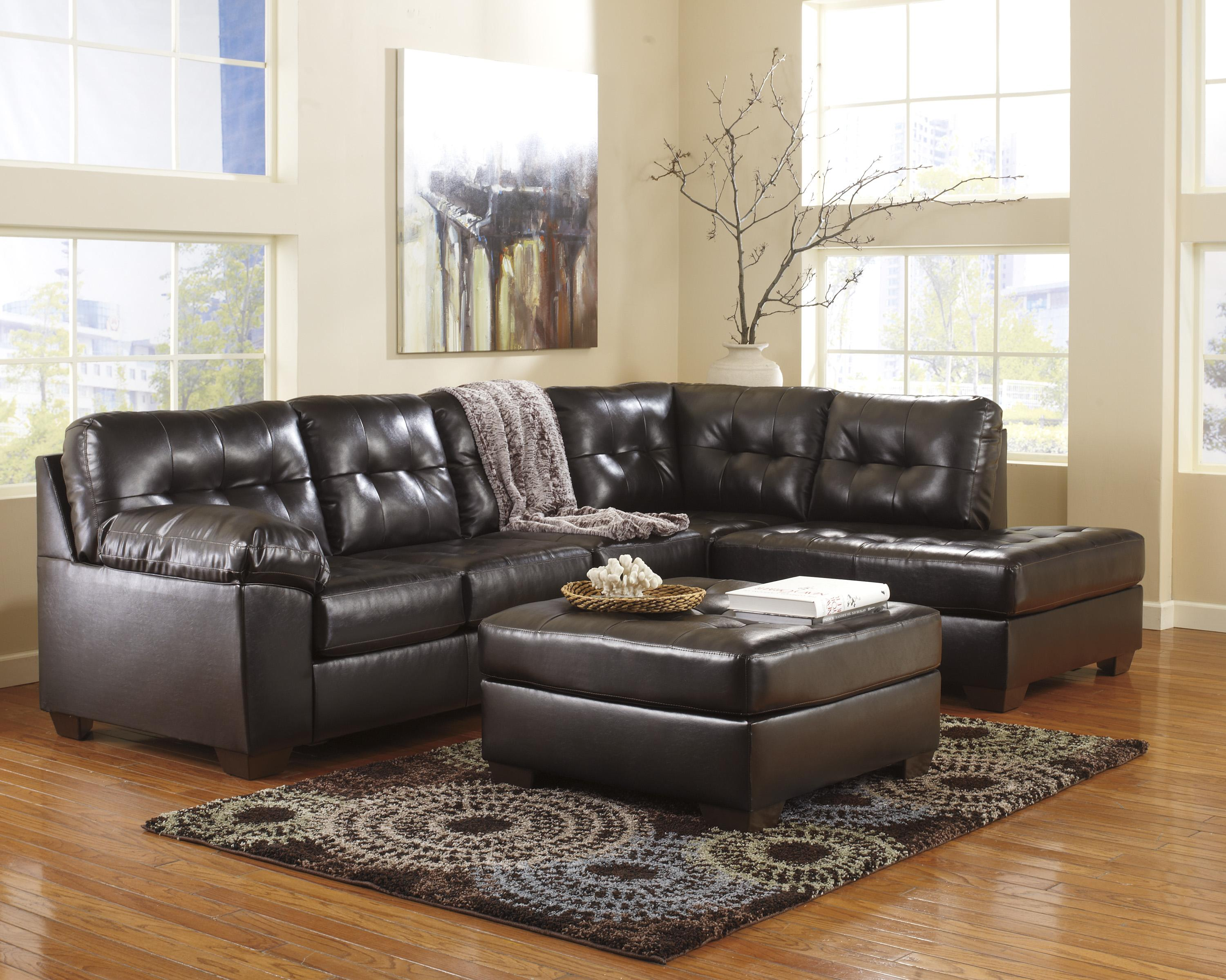 Alliston DuraBlend® - Chocolate Stationary Living Room Group by Signature Design by Ashley at Value City Furniture