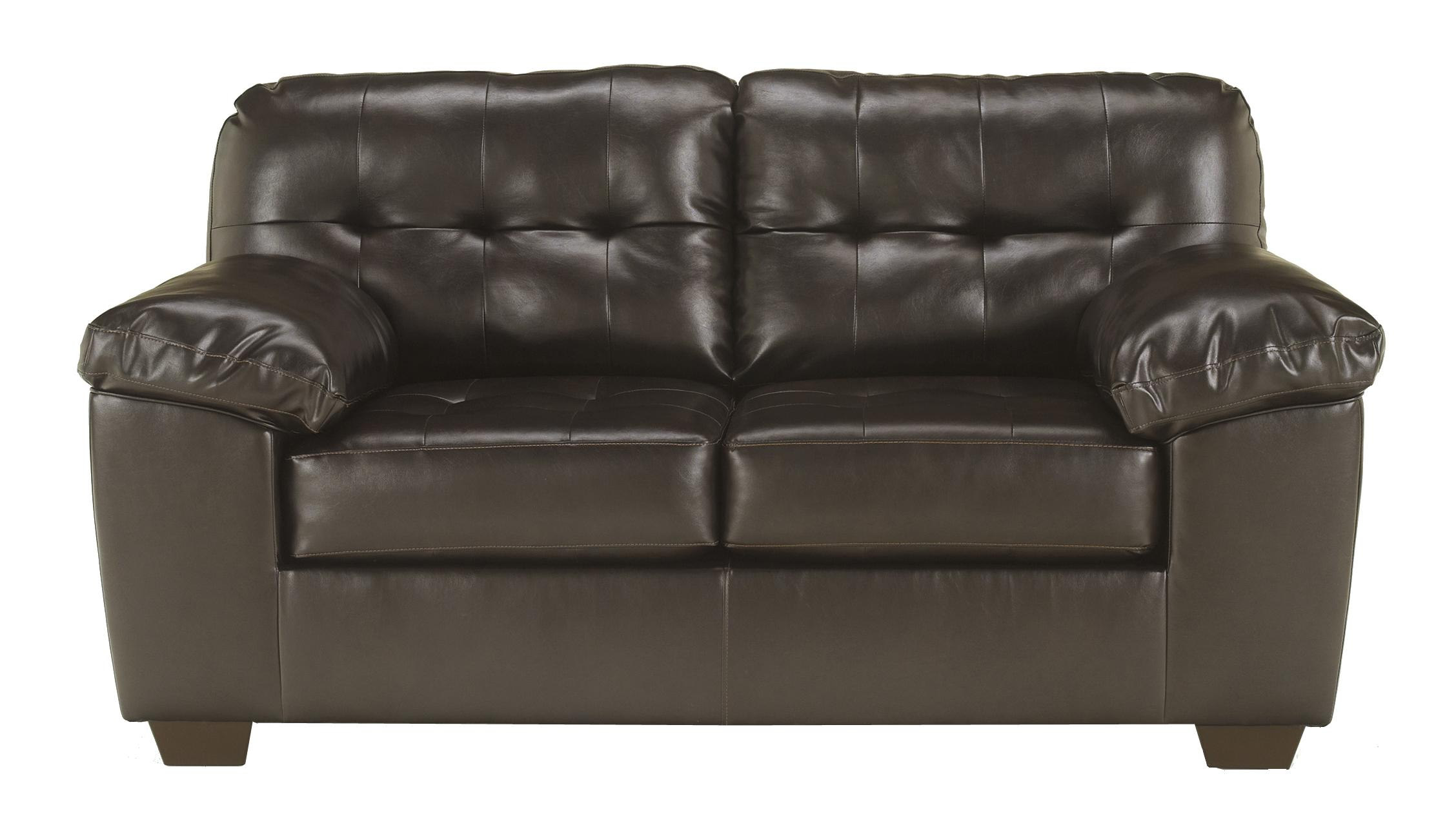 Alliston DuraBlend® - Chocolate Loveseat by Signature Design by Ashley at Suburban Furniture
