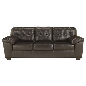 Signature Design by Ashley Alliston DuraBlend® - Chocolate Queen Sofa Sleeper