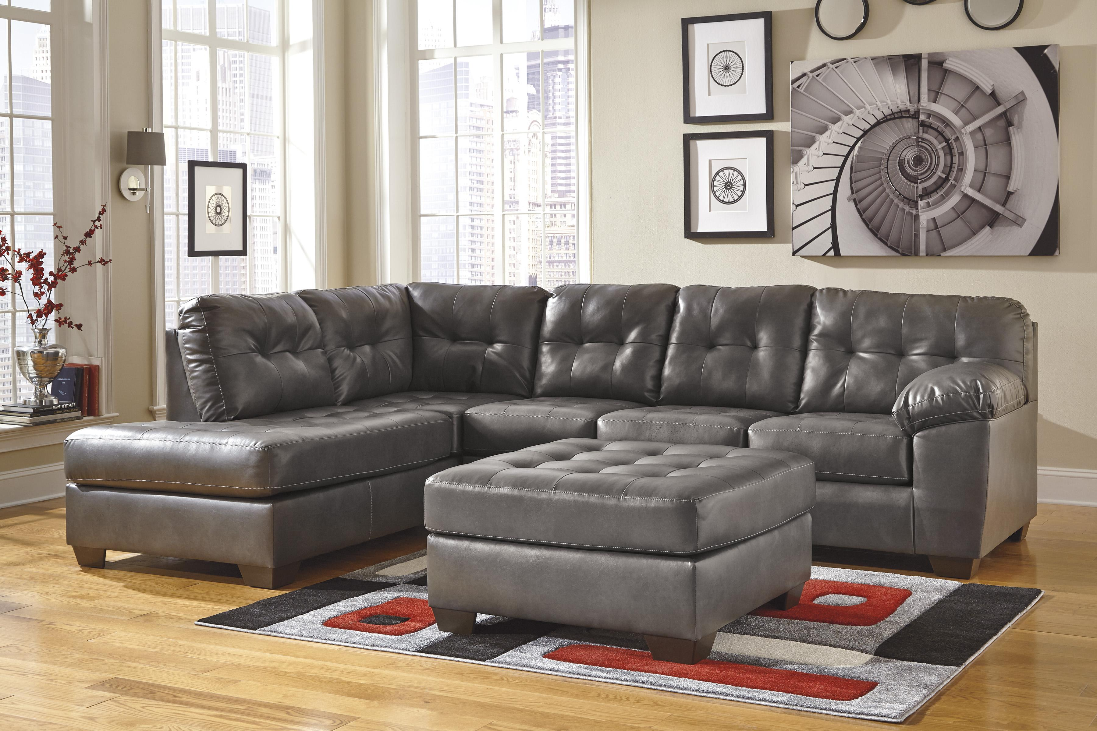 Alliston DuraBlend® - Gray Stationary Living Room Group by Signature Design by Ashley at Beds N Stuff