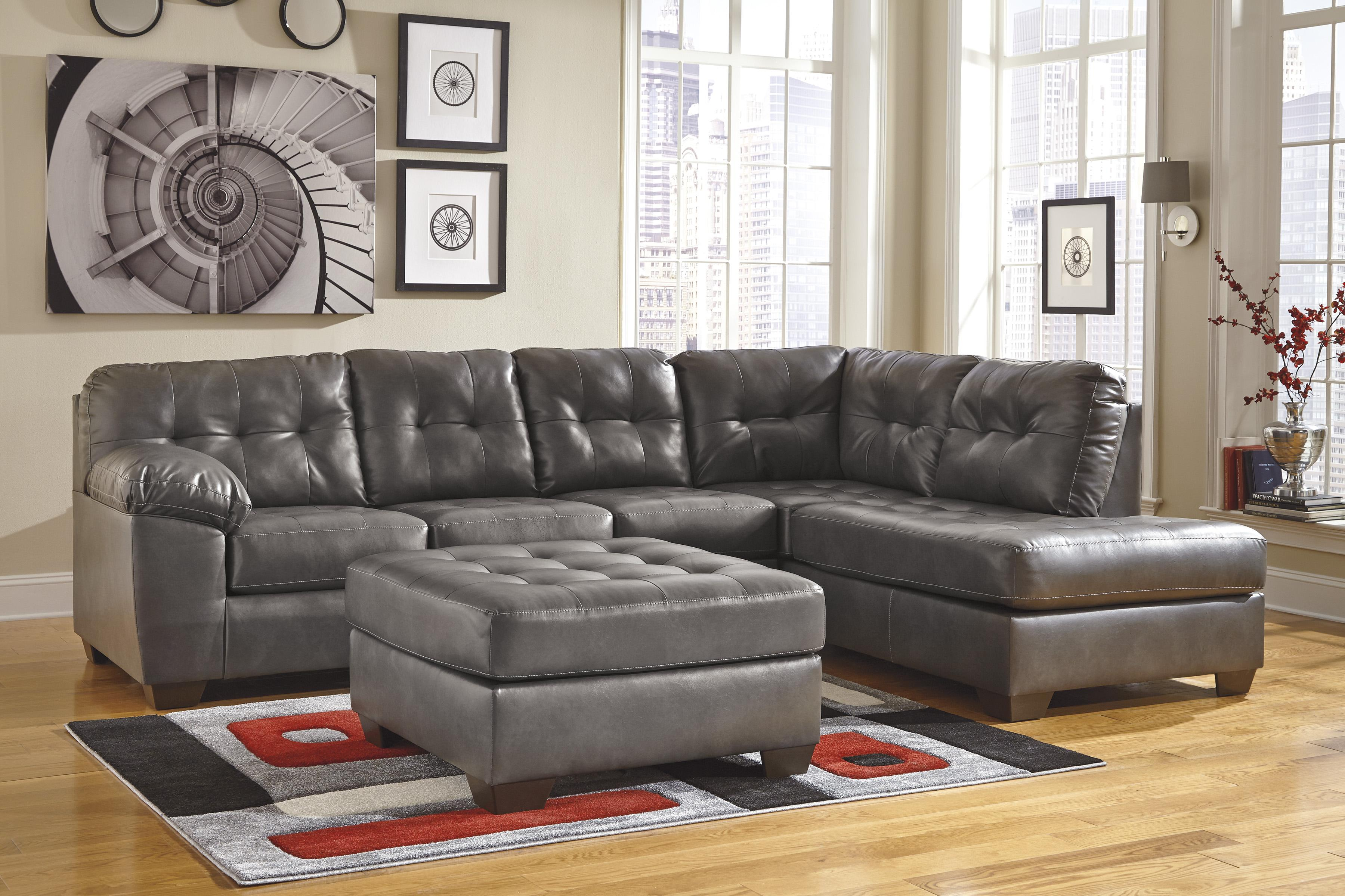 Alliston DuraBlend® - Gray Stationary Living Room Group by Signature Design by Ashley at Catalog Outlet