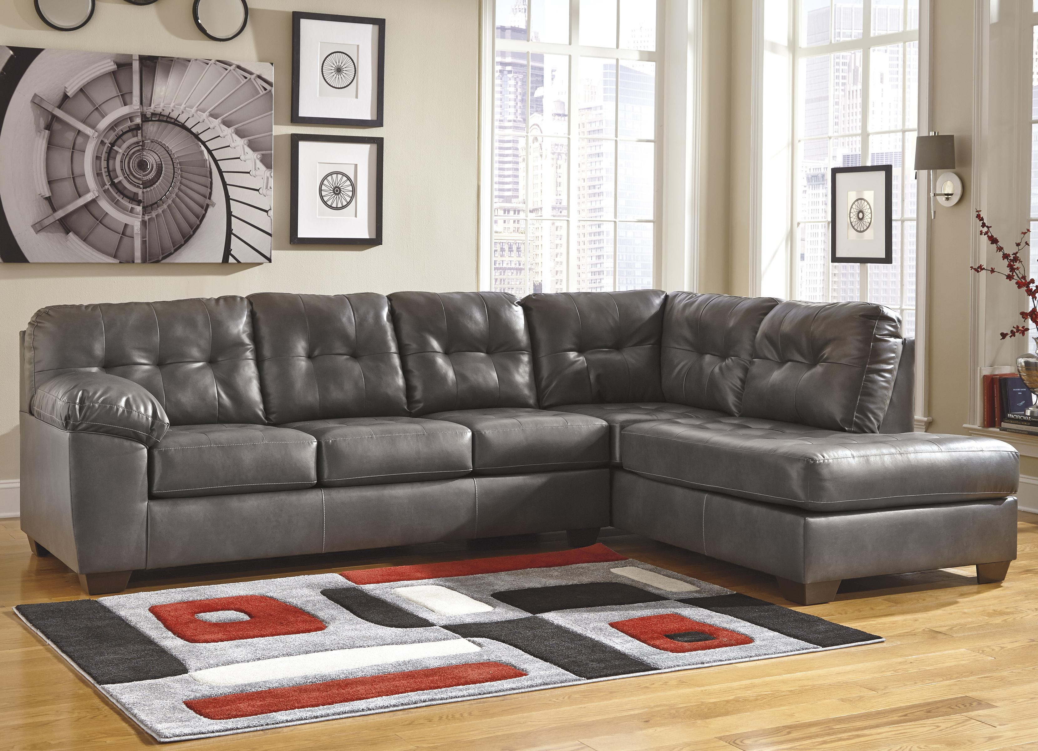 Alliston DuraBlend® - Gray Sectional w/ Right Chaise by Signature Design by Ashley at Rife's Home Furniture