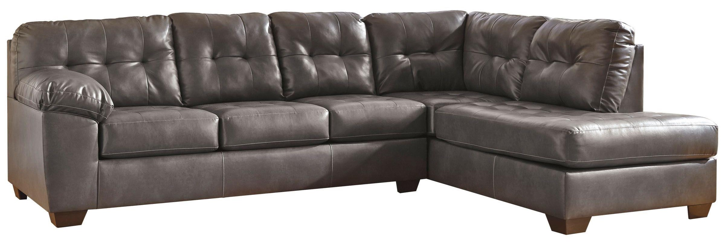 Alliston DuraBlend® - Gray Sectional w/ Right Chaise by Signature Design by Ashley at Value City Furniture