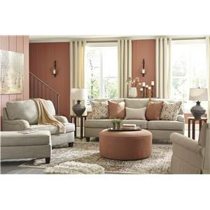 Wheat Sofa, Chair, Swivel Chair and Accent Ottoman Set