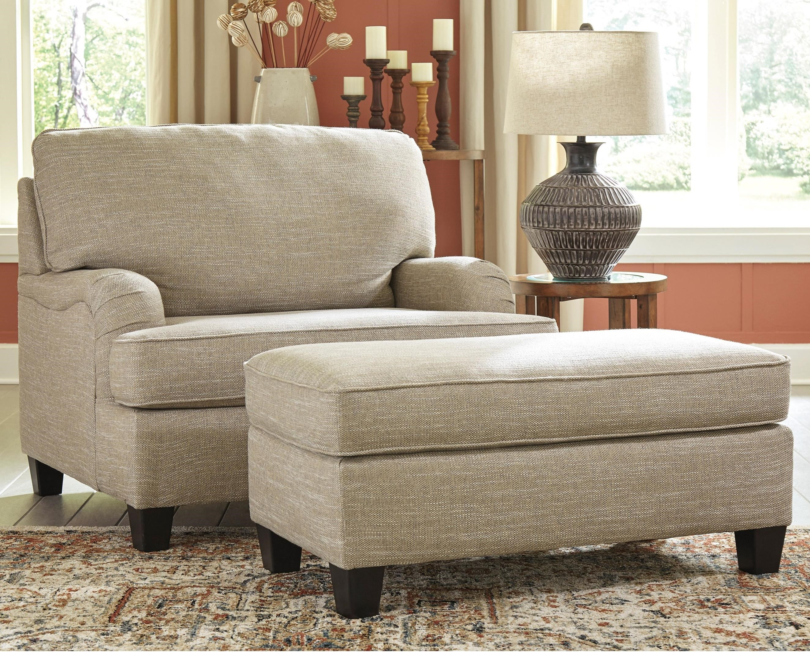 Almanza Chair and a Half and Ottoman by Signature Design by Ashley at Sparks HomeStore