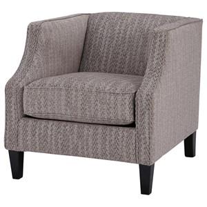 Contemporary Tuxedo Back Accent Chair